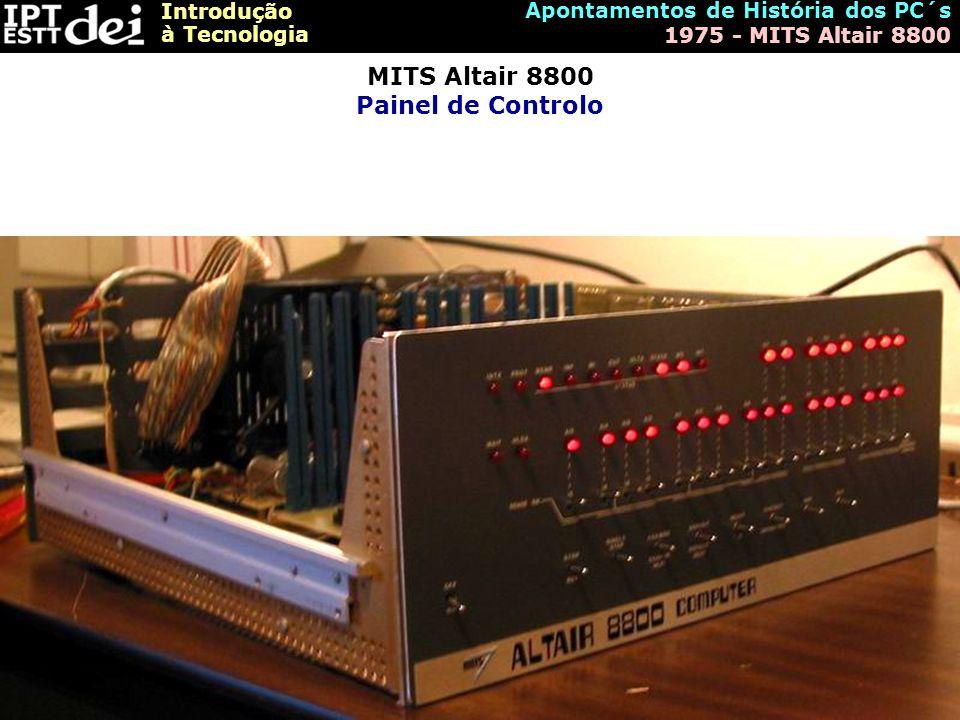 MITS Altair 8800 Painel de Controlo