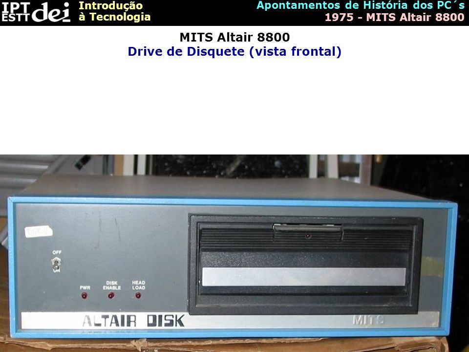 MITS Altair 8800 Drive de Disquete (vista frontal)