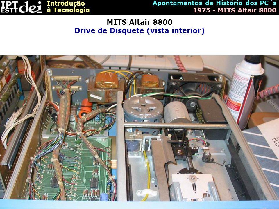 MITS Altair 8800 Drive de Disquete (vista interior)