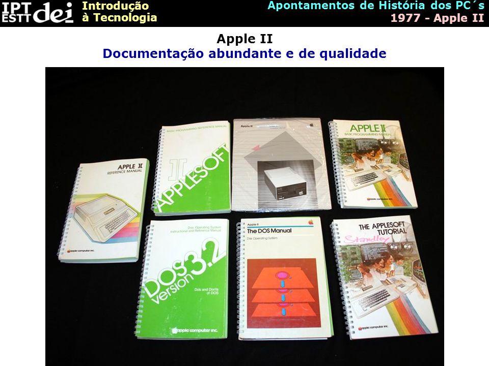 Apple II Documentação abundante e de qualidade