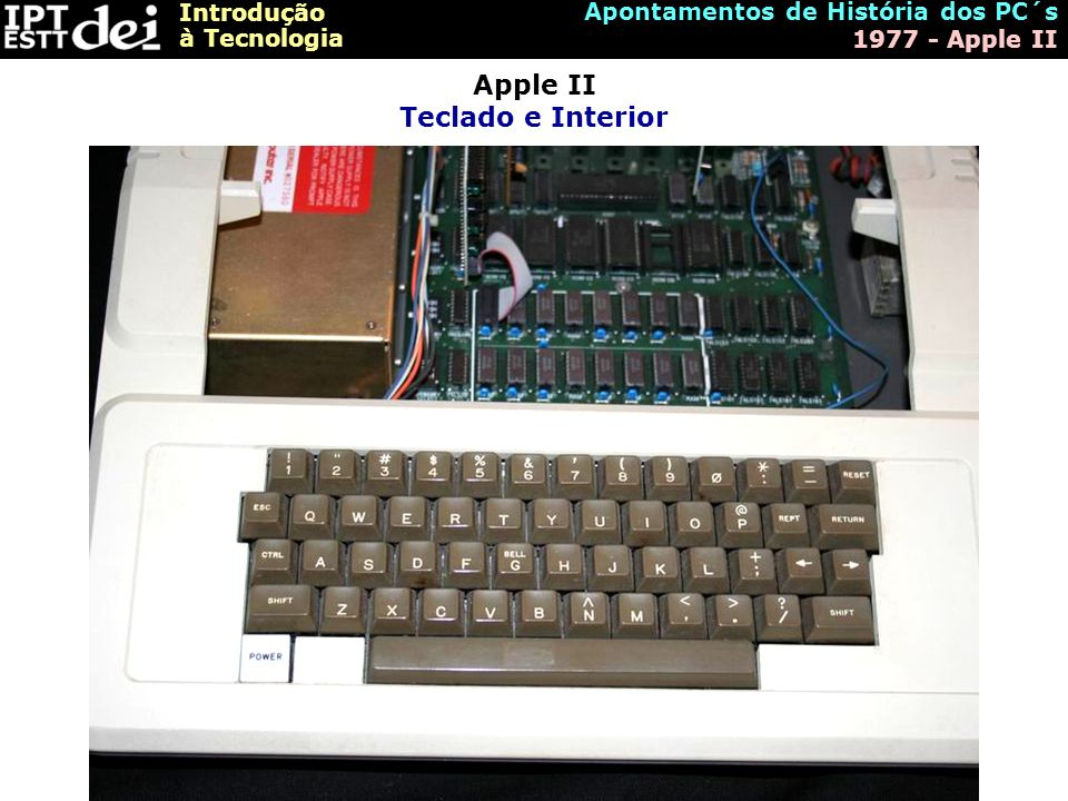 Apple II Teclado e Interior
