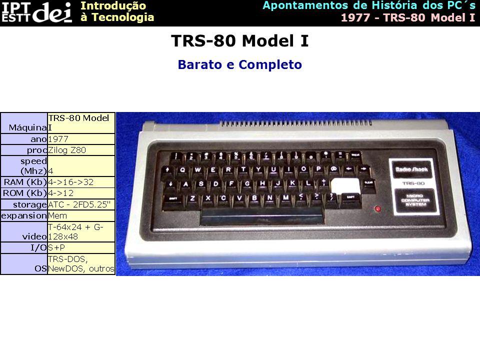 TRS-80 Model I Barato e Completo Apontamentos de História dos PC´s
