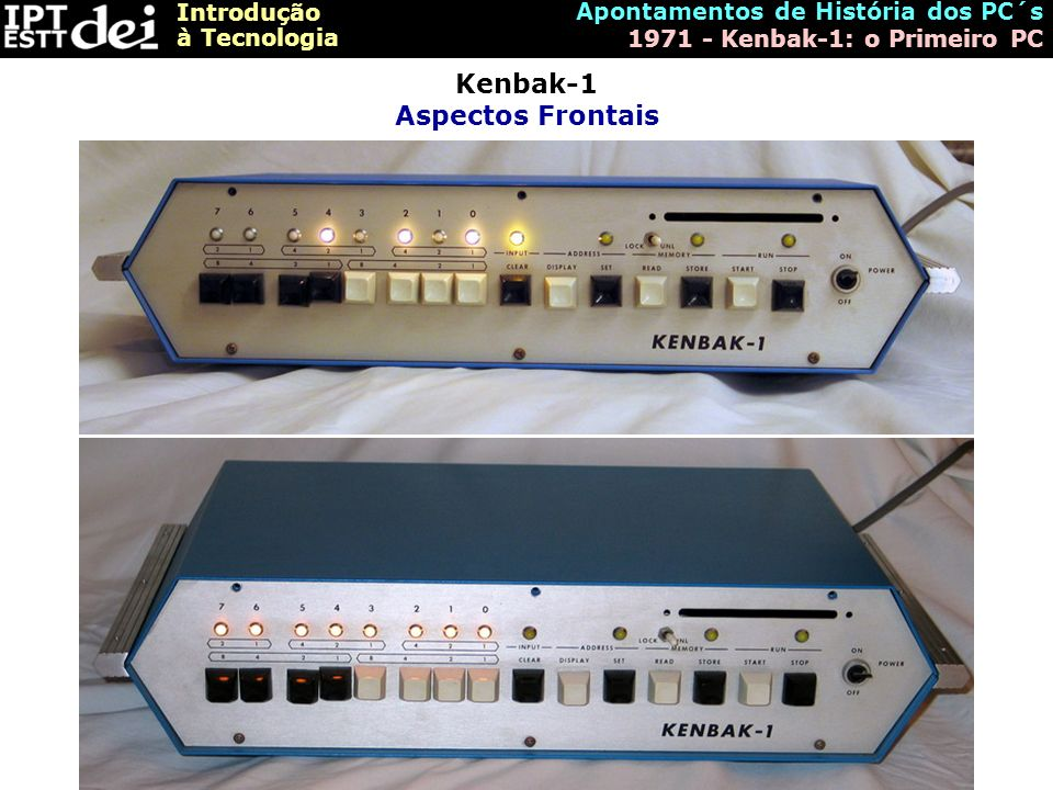 Kenbak-1 Aspectos Frontais