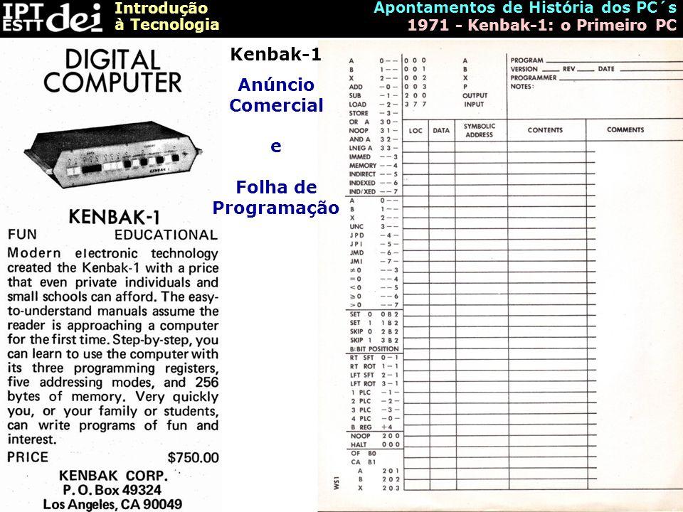 Anúncio Comercial e Folha de Programação