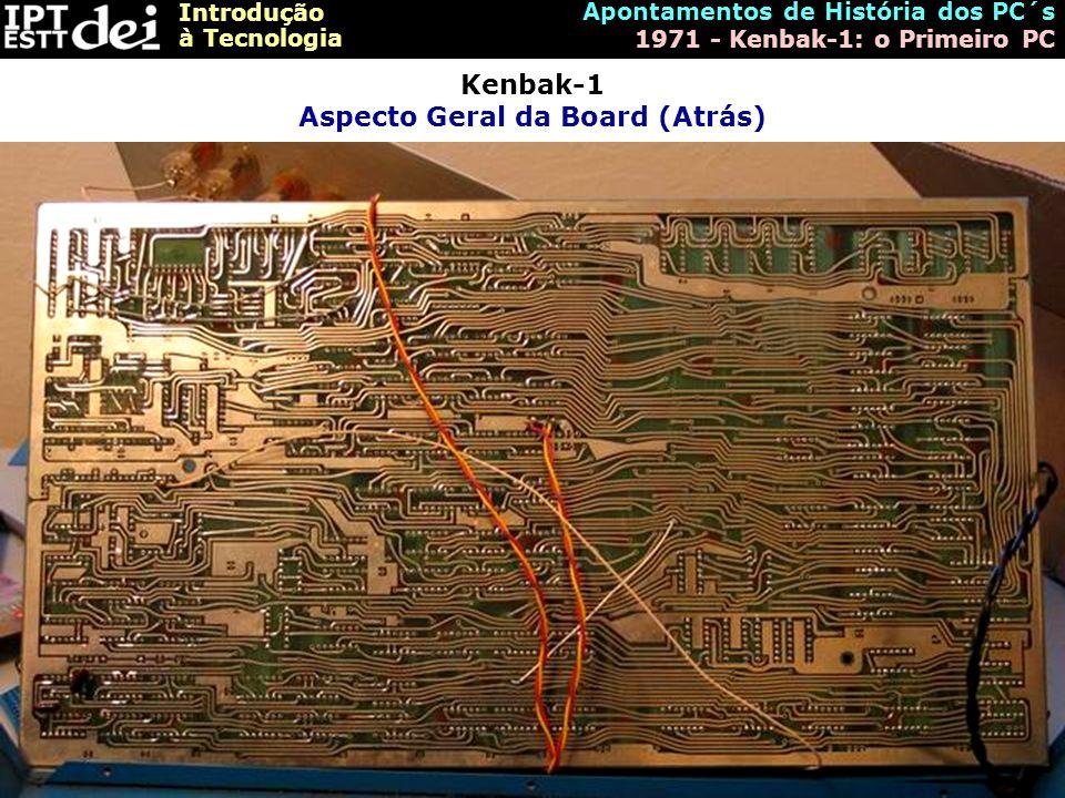 Kenbak-1 Aspecto Geral da Board (Atrás)