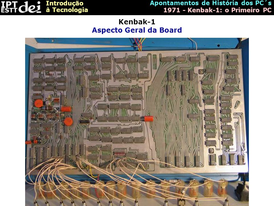 Kenbak-1 Aspecto Geral da Board