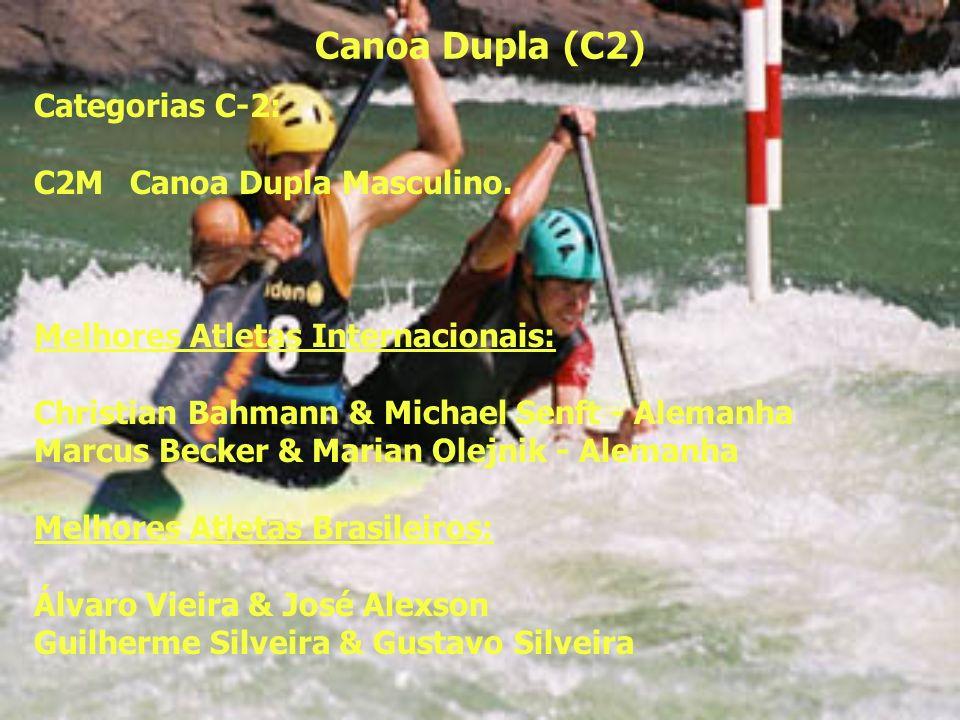 Canoa Dupla (C2) Categorias C-2: C2M Canoa Dupla Masculino.