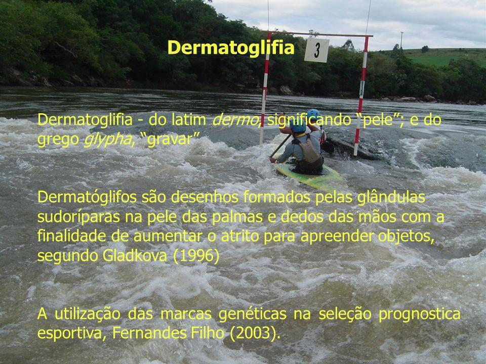 Dermatoglifia Dermatoglifia - do latim dermo, significando pele ; e do grego glypha, gravar