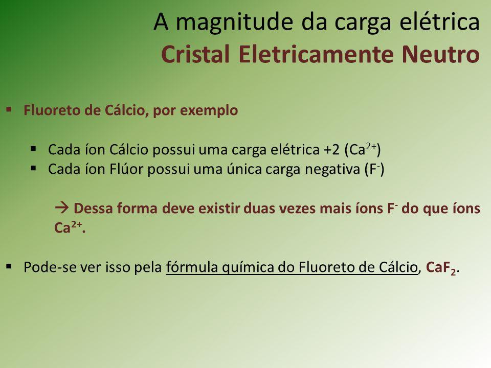 A magnitude da carga elétrica Cristal Eletricamente Neutro