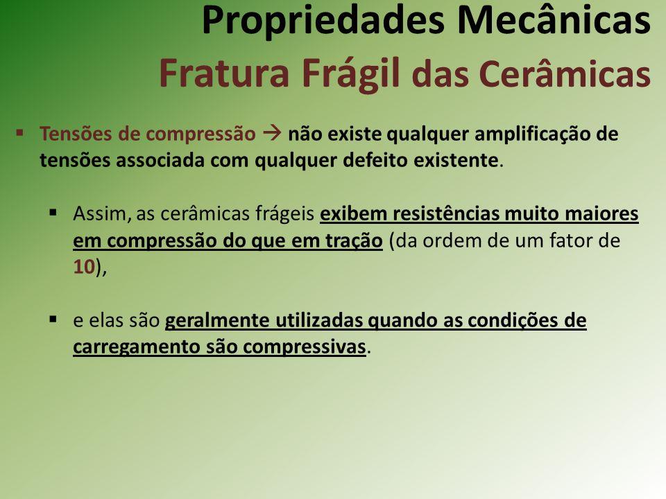 Propriedades Mecânicas Fratura Frágil das Cerâmicas