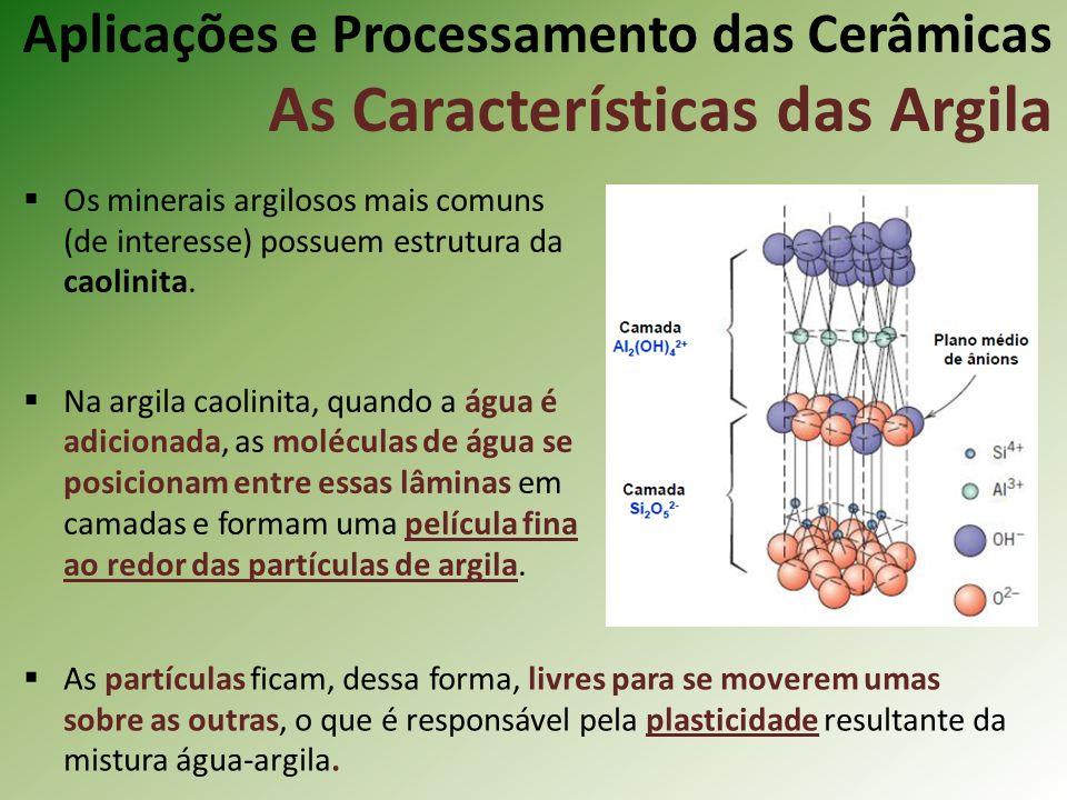 Aplicações e Processamento das Cerâmicas As Características das Argila