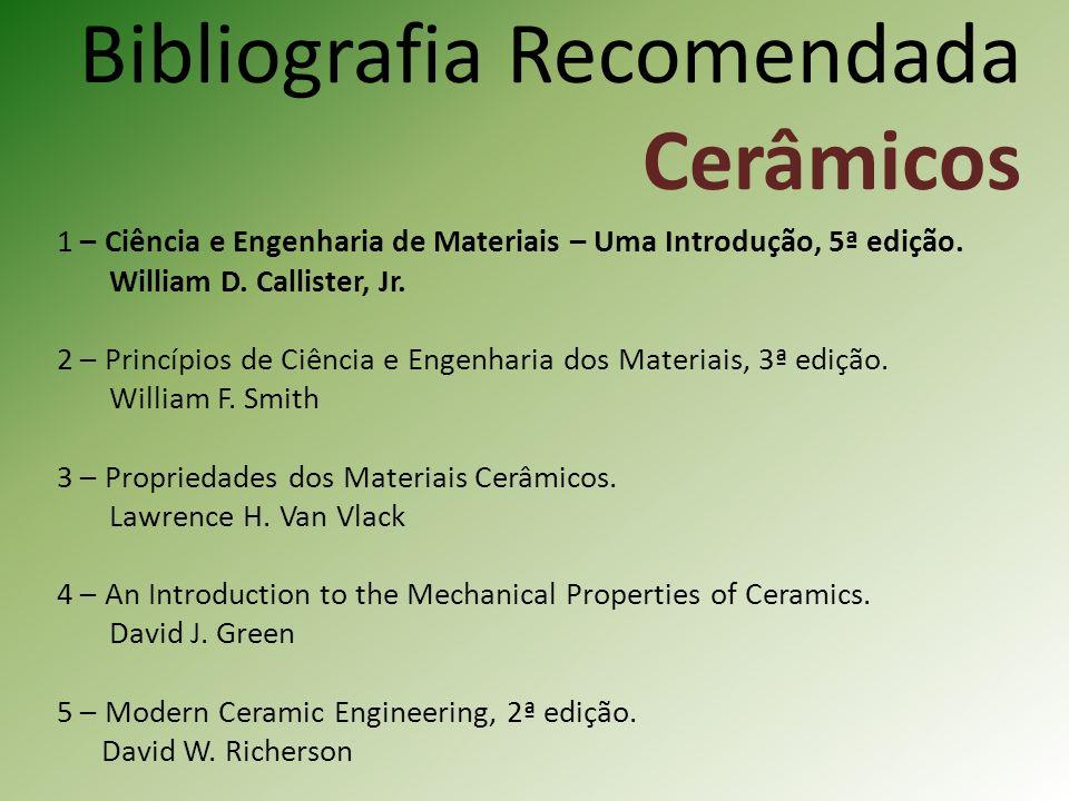 Bibliografia Recomendada Cerâmicos