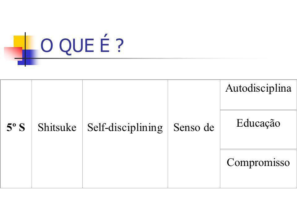 O QUE É 5º S Shitsuke Self-disciplining Senso de Autodisciplina
