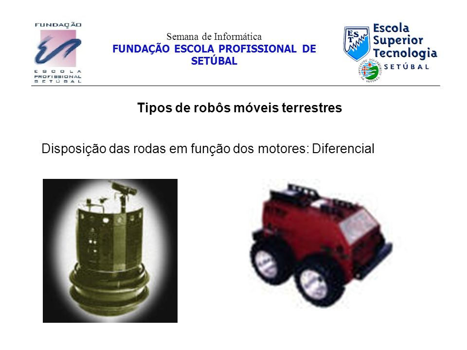 Tipos de robôs móveis terrestres