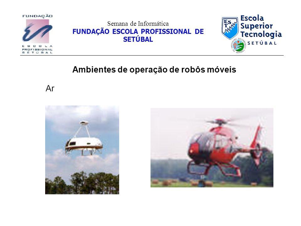 Ambientes de operação de robôs móveis