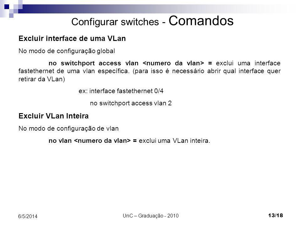 Configurar switches - Comandos
