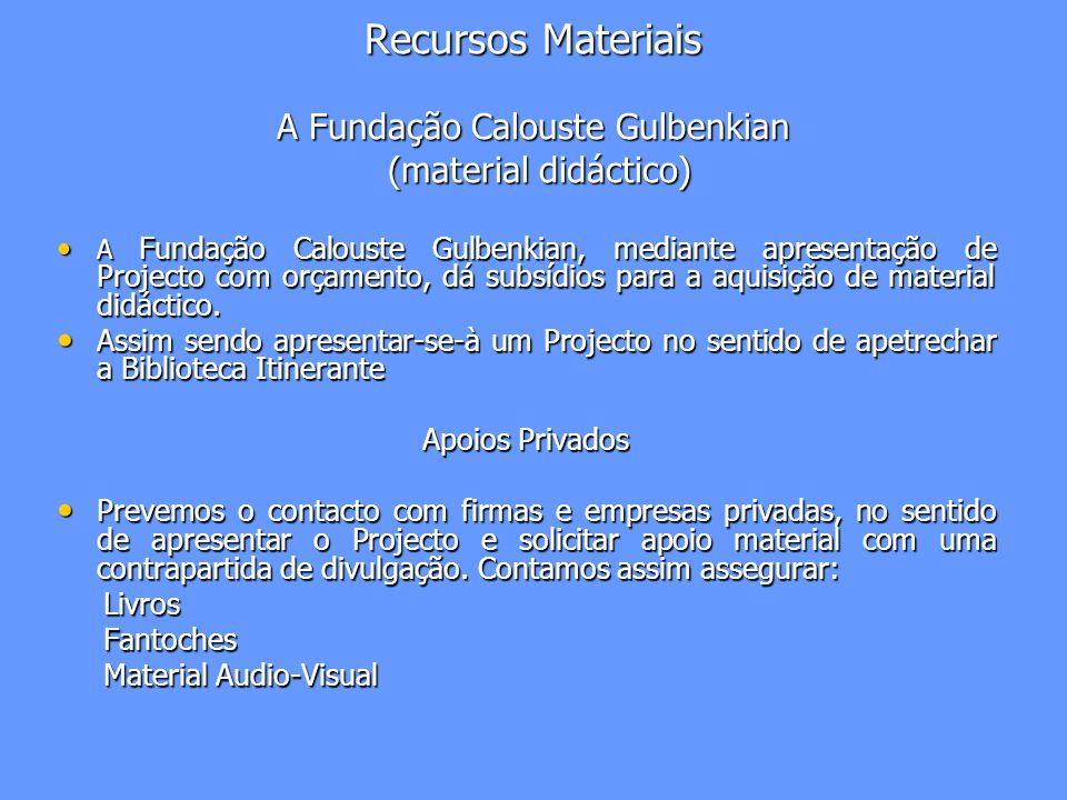 Recursos Materiais A Fundação Calouste Gulbenkian (material didáctico)