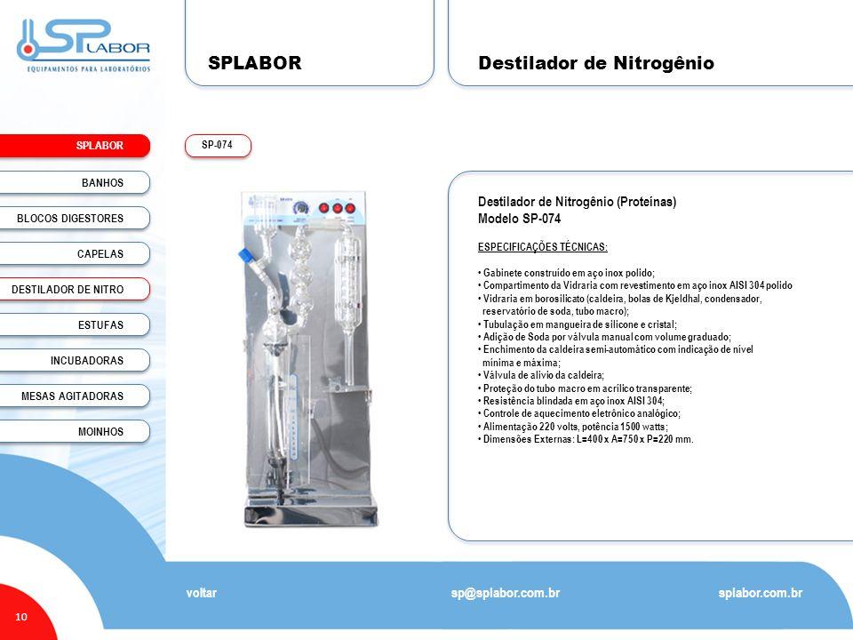 Destilador de Nitrogênio