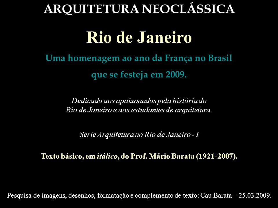 Rio de Janeiro ARQUITETURA NEOCLÁSSICA