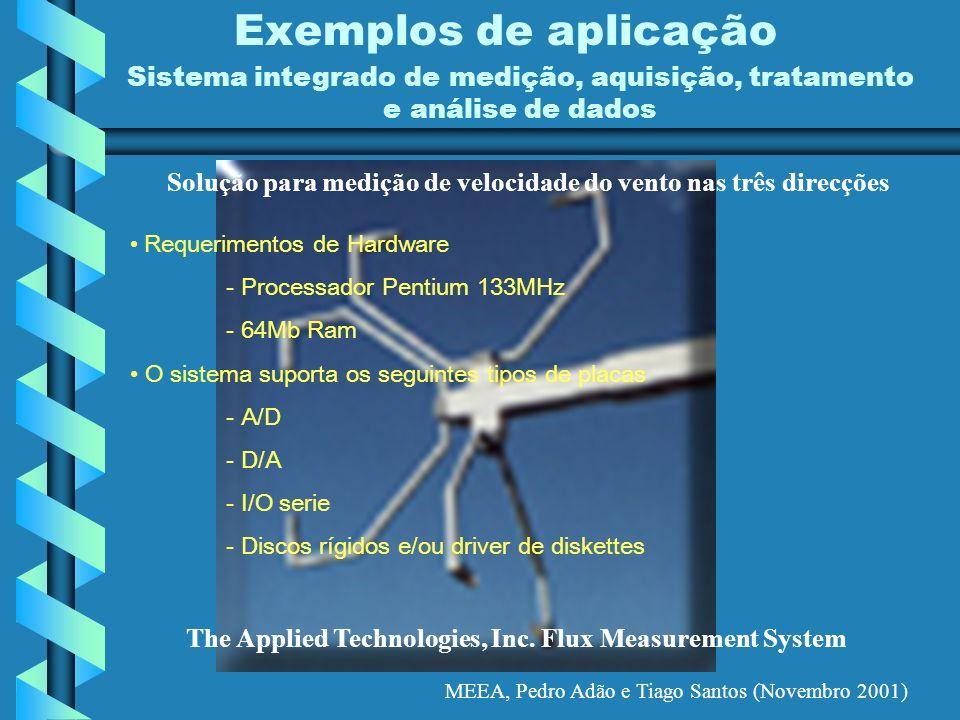 Solução para medição de velocidade do vento nas três direcções