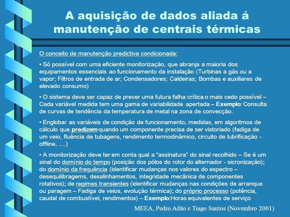 A aquisição de dados aliada á manutenção de centrais térmicas