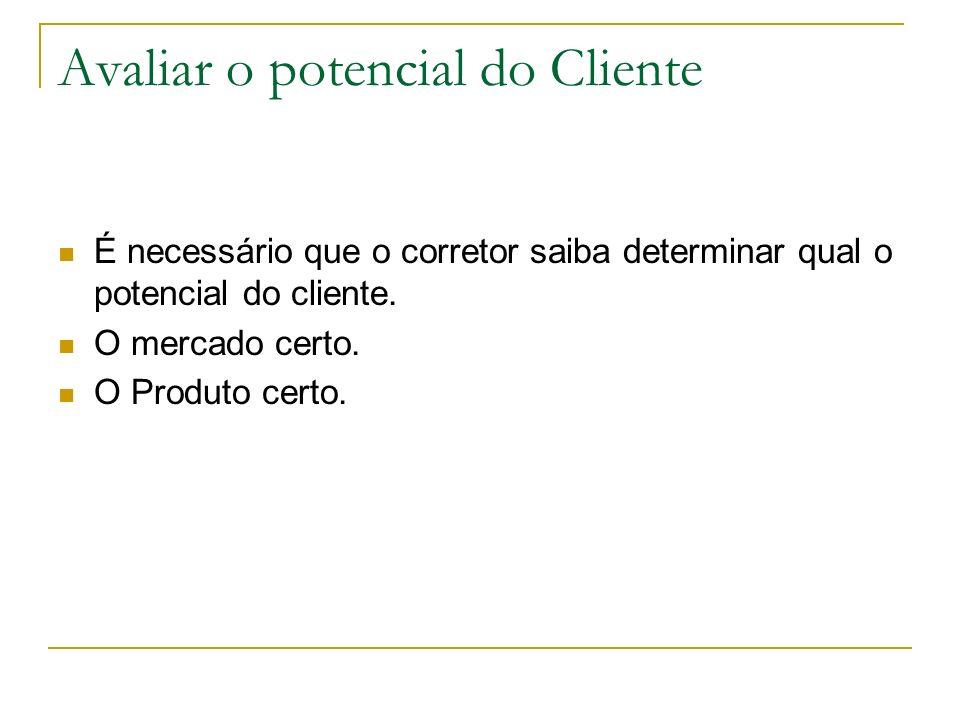 Avaliar o potencial do Cliente