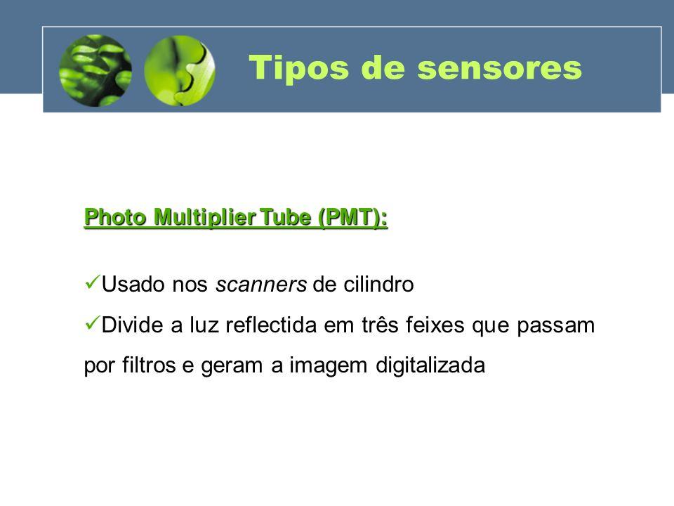 Tipos de sensores Photo Multiplier Tube (PMT):