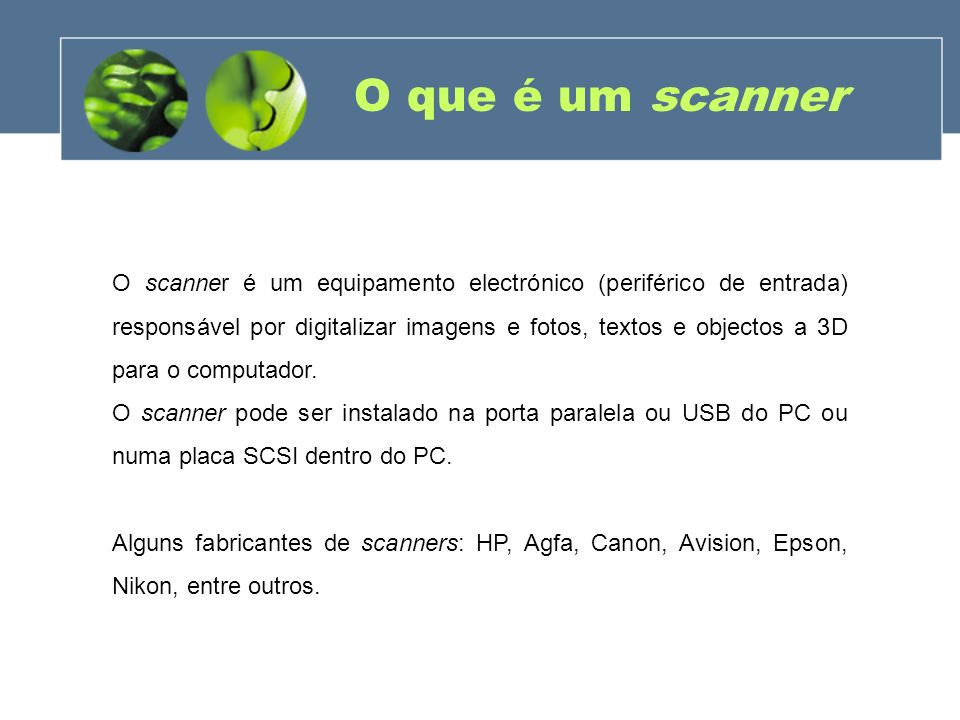 O que é um scanner
