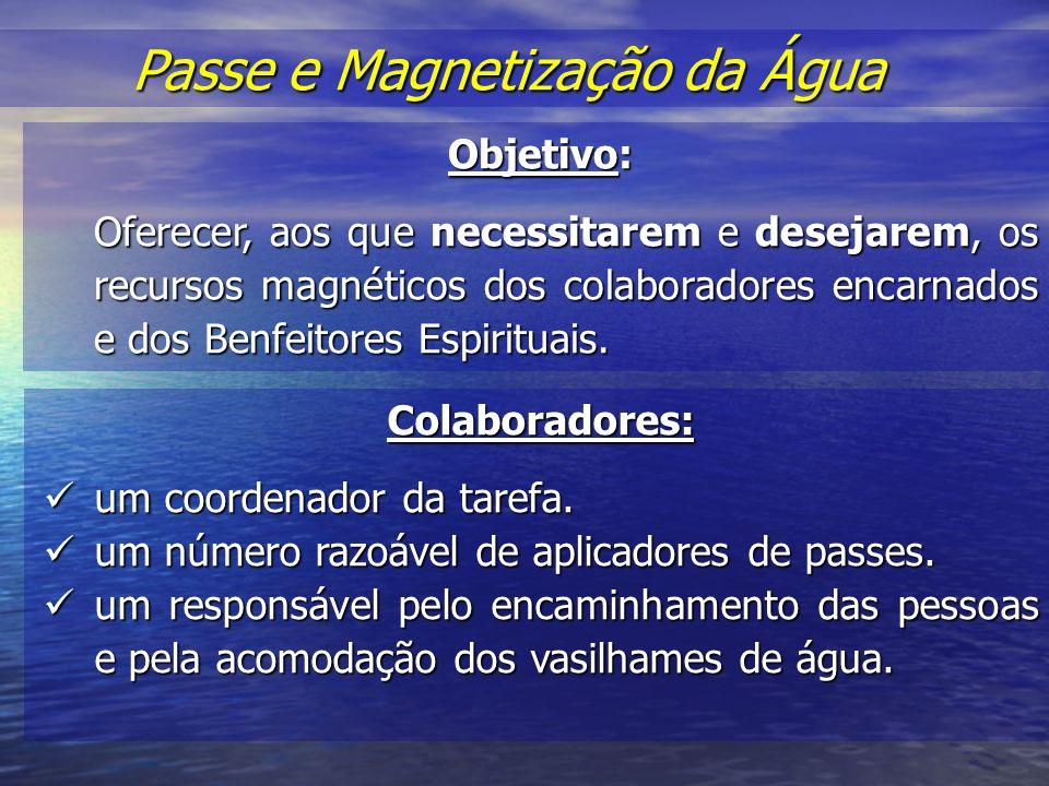 Passe e Magnetização da Água