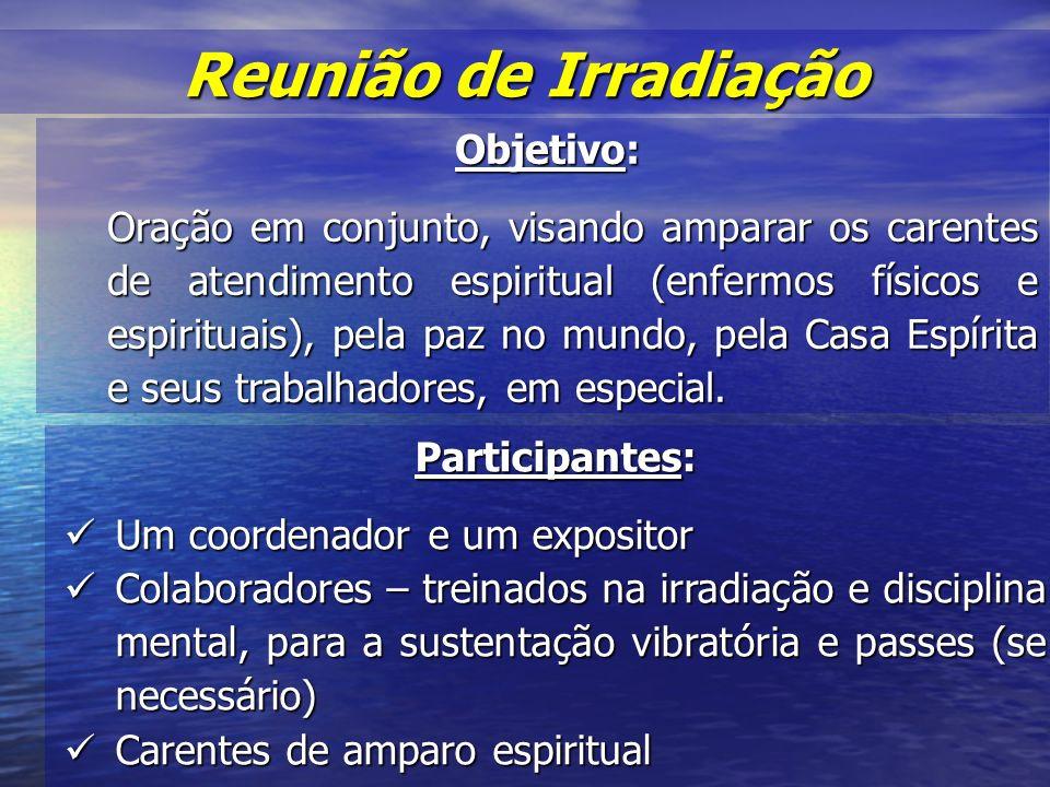 Reunião de Irradiação Objetivo: Participantes: