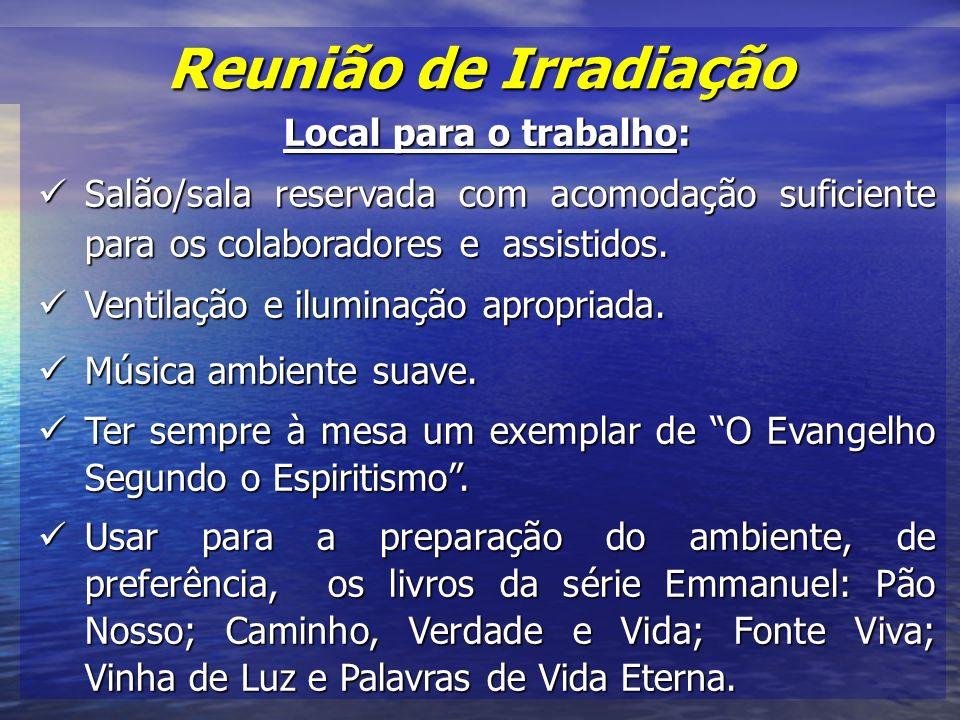 Reunião de Irradiação Local para o trabalho: