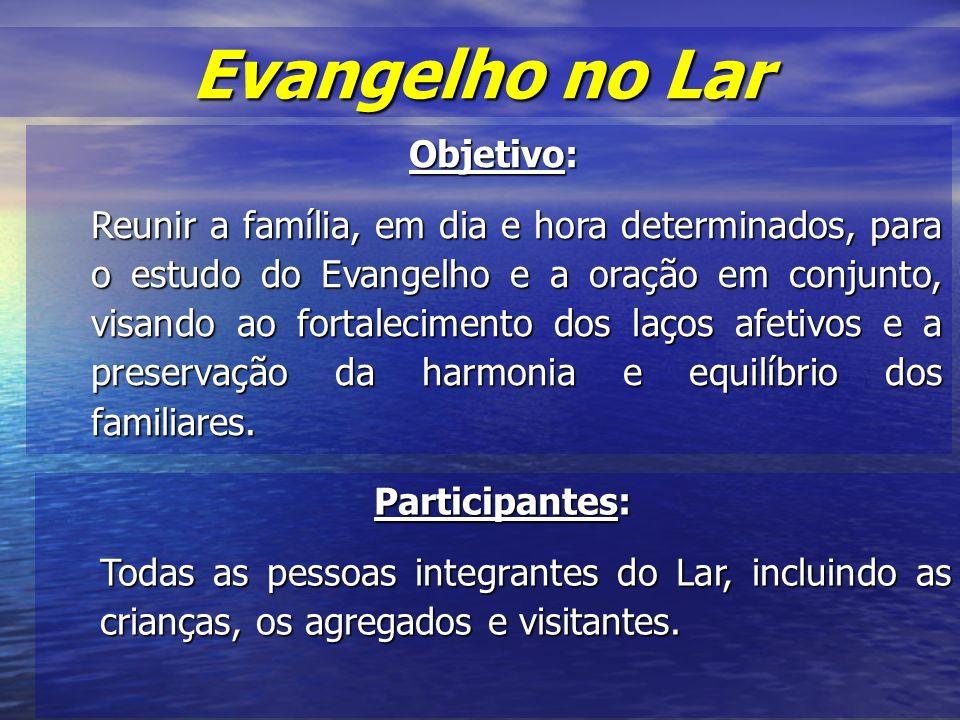Evangelho no Lar Objetivo: Participantes:
