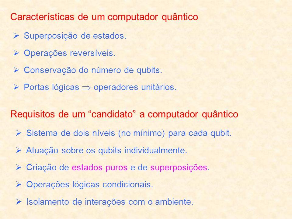 Características de um computador quântico