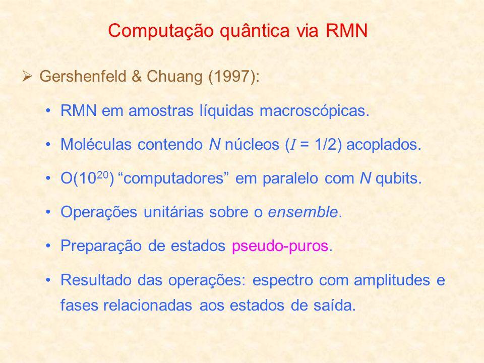 Computação quântica via RMN