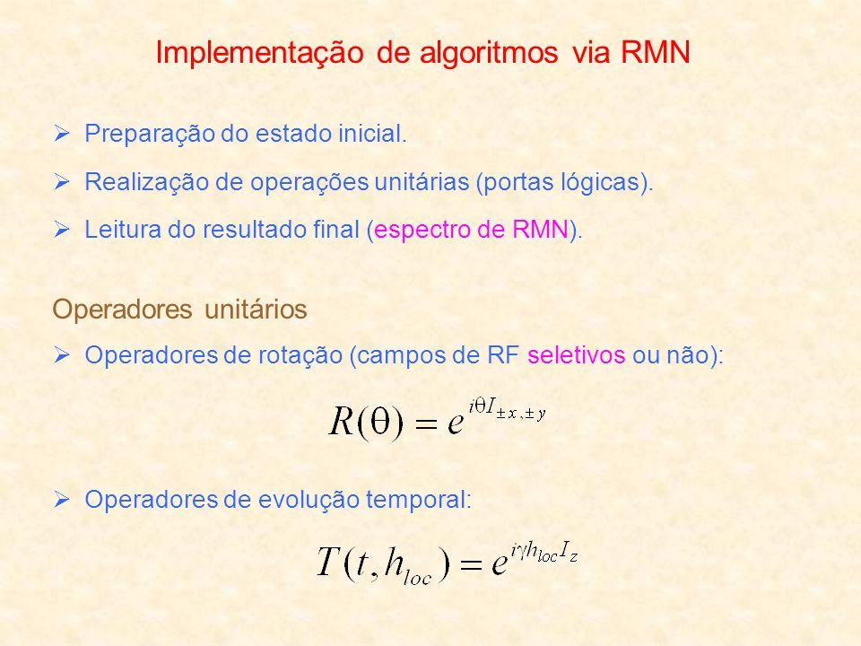Implementação de algoritmos via RMN