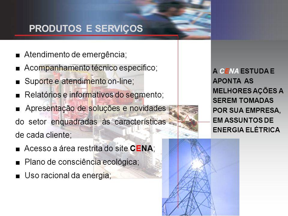 PRODUTOS E SERVIÇOS ■ Atendimento de emergência;