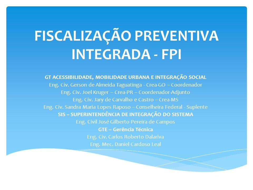 FISCALIZAÇÃO PREVENTIVA INTEGRADA - FPI