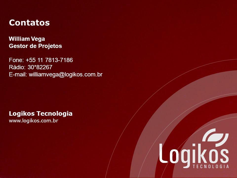 Contatos William Vega Gestor de Projetos Fone: +55 11 7813-7186