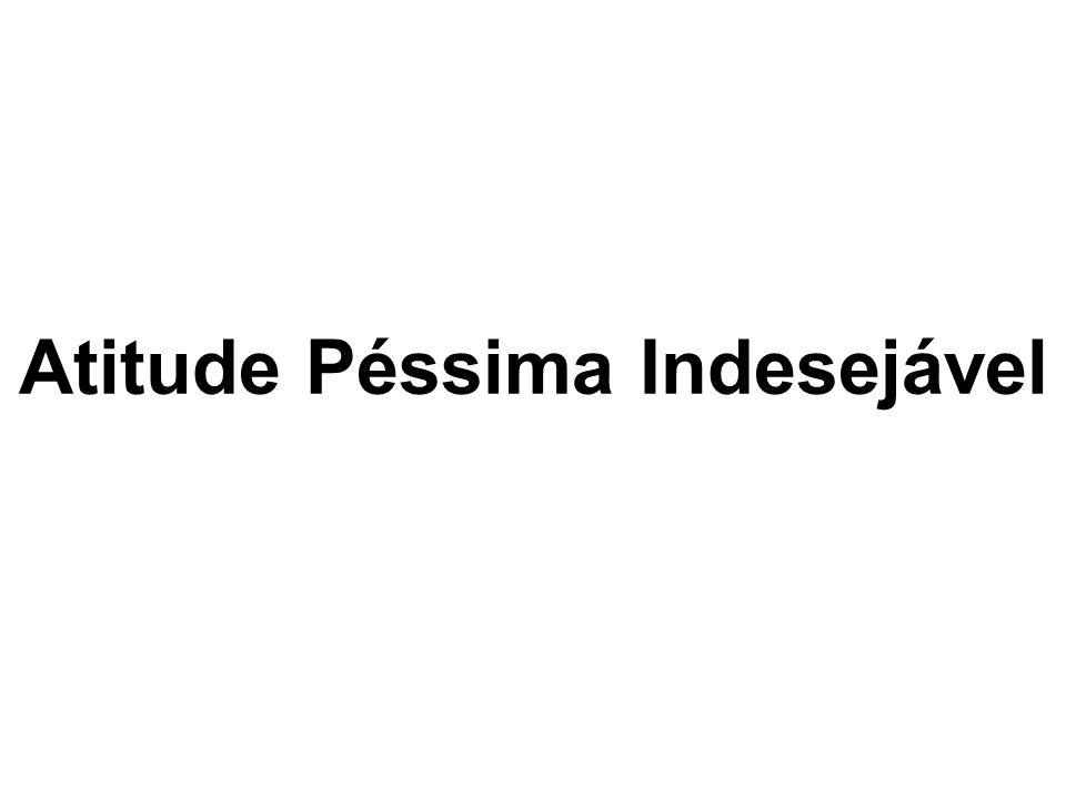 Atitude Péssima Indesejável