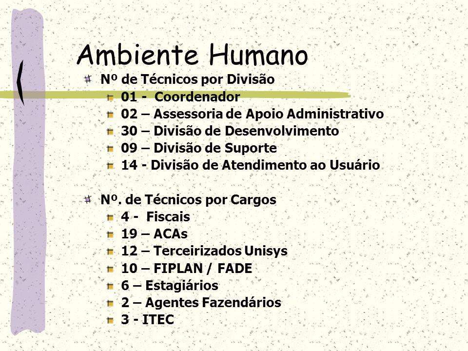 Ambiente Humano Nº de Técnicos por Divisão 01 - Coordenador