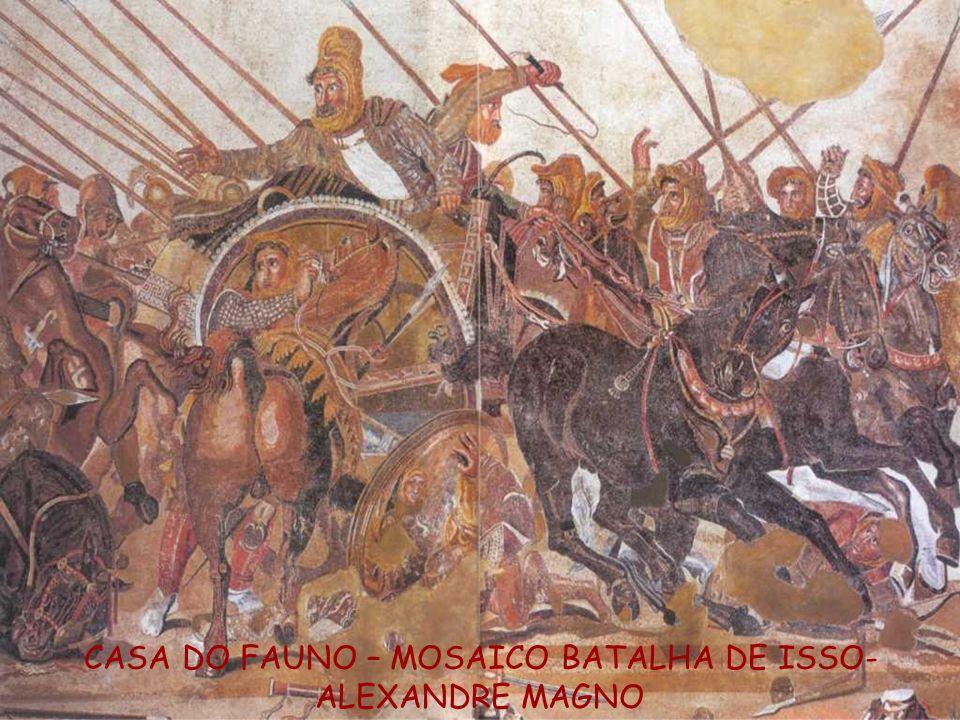 CASA DO FAUNO – MOSAICO BATALHA DE ISSO- ALEXANDRE MAGNO