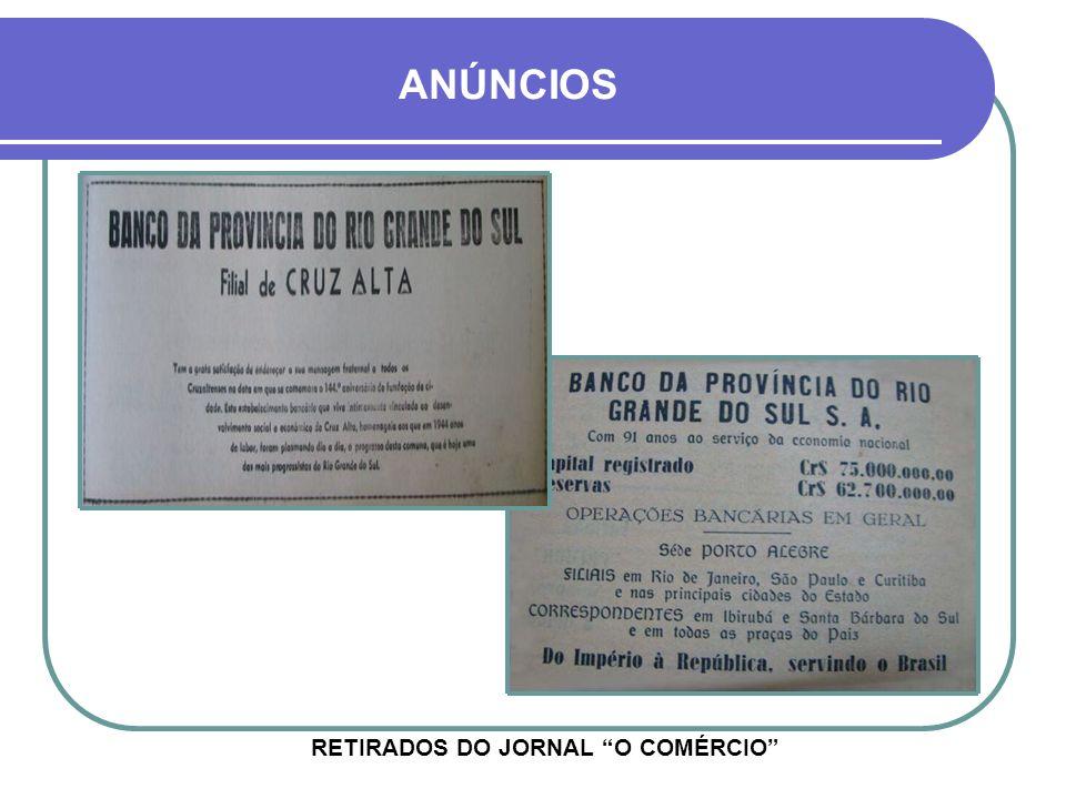 RETIRADOS DO JORNAL O COMÉRCIO