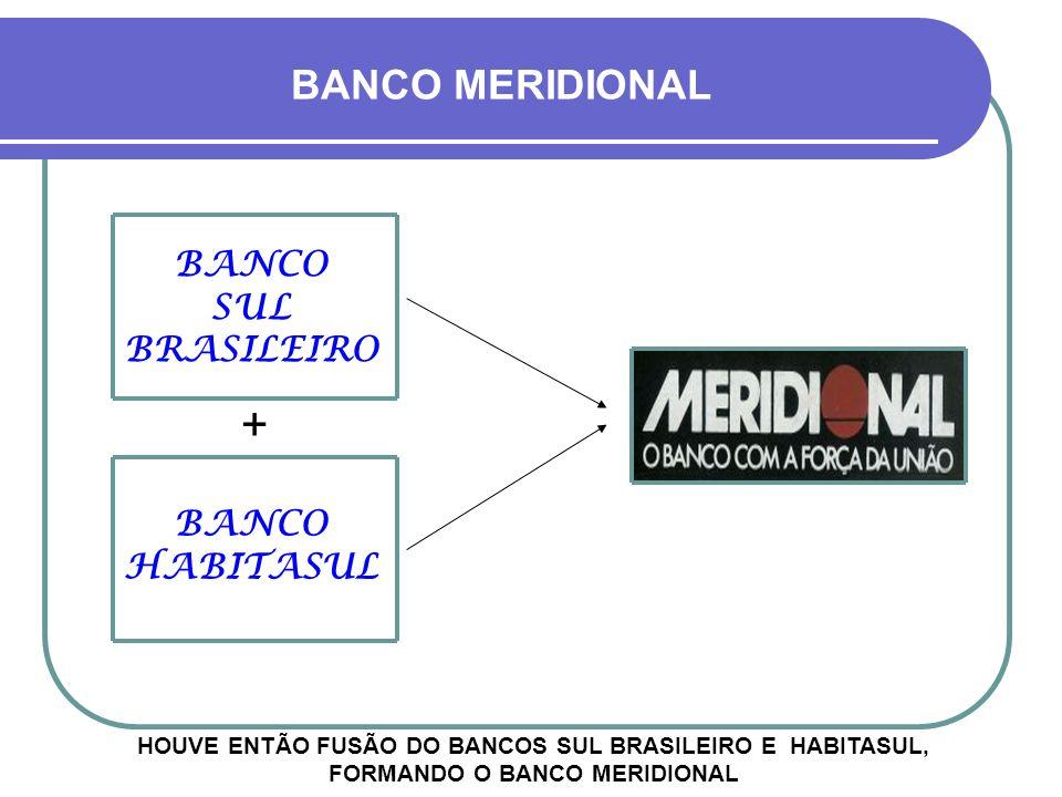+ BANCO MERIDIONAL BANCO SUL BRASILEIRO BANCO HABITASUL