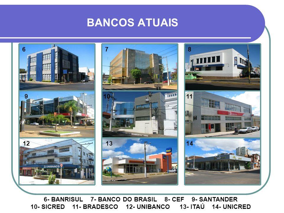 BANCOS ATUAIS 6. 7. 8. 9. 10. 11. 12. 13. 14.