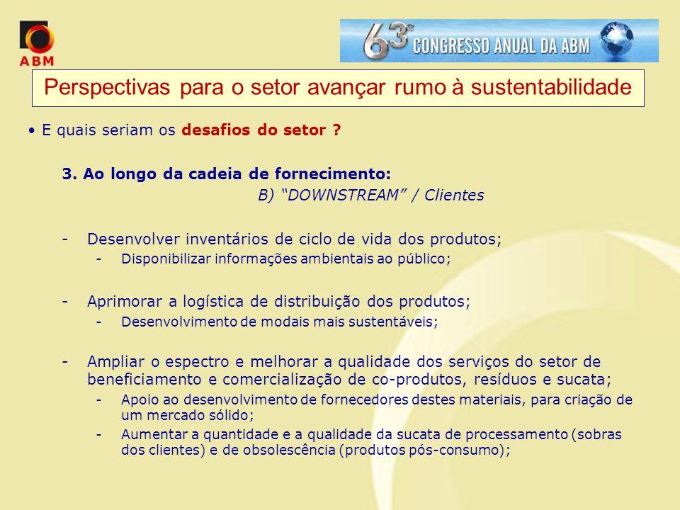 Perspectivas para o setor avançar rumo à sustentabilidade