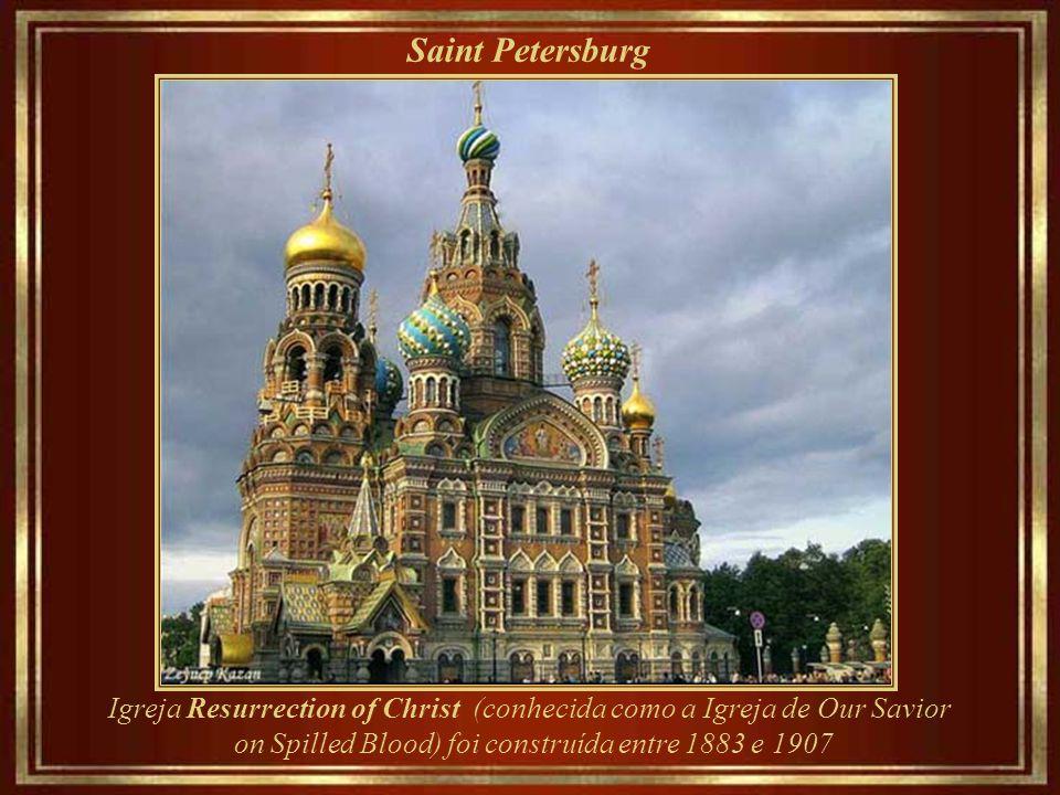 Saint Petersburg Igreja Resurrection of Christ (conhecida como a Igreja de Our Savior.