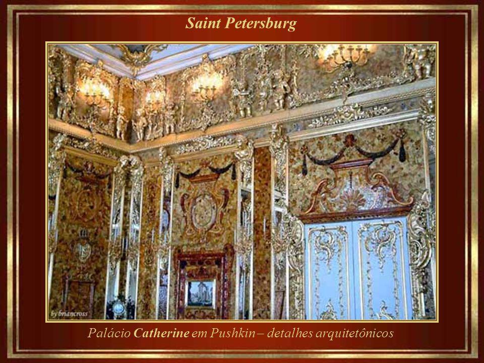 Saint Petersburg Palácio Catherine em Pushkin – detalhes arquitetônicos