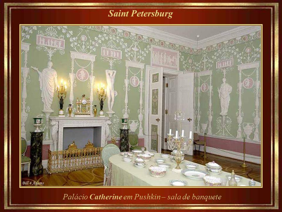 Saint Petersburg Palácio Catherine em Pushkin – sala de banquete