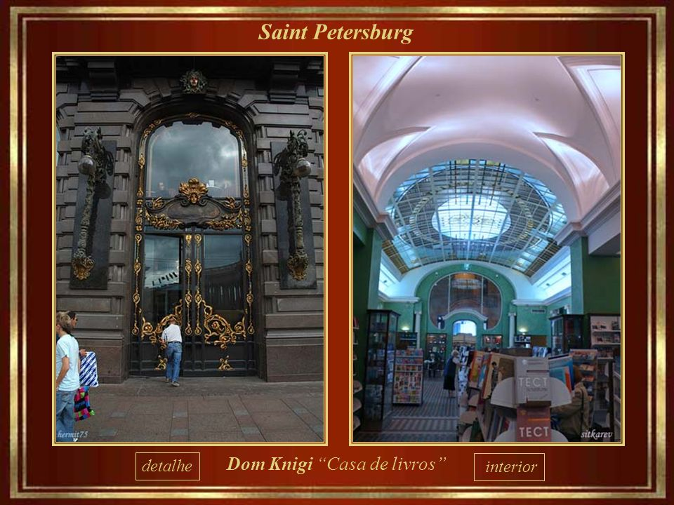 Saint Petersburg detalhe Dom Knigi Casa de livros interior
