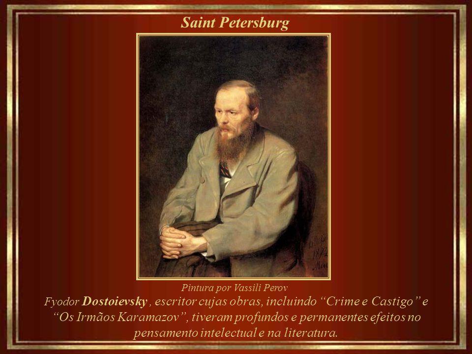 Saint Petersburg Pintura por Vassili Perov. Fyodor Dostoievsky , escritor cujas obras, incluindo Crime e Castigo e.